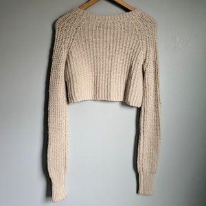 Kimchi Blue Crop-Top Long-Sleeve Sweater